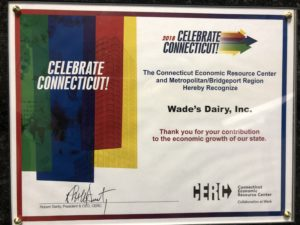 We're thrilled to announce that Wade's Dairy have been recognized by The Connecticut Economic Resource Center and Metropolitan/Bridgeport Region.